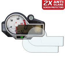 2 x BMW S1000RR S1000XR S1000R 2015> Dashboard Screen Protector: Anti-Glare