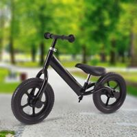 "New 12"" Balance Bike Kids No-Pedal Learning Ride Bicycle Gift Toy Black/Pink US"