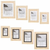 Vinyl Wooden Look Effect Free Standing Picture Photo Frames With Mount Home Gift