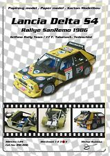 RSC-006 Lancia Delta S4 Grifone Rally Team Group B Tabaton paper model papercraf