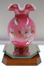 Fenton VASE Wild Rose MOTHER's DAY 05 LE 7688WM #d364/1500 * FREE USA SHIPPING