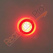 2 New Red LED Round 12V Livewell Courtesy Lights for Marine Boat RV WATERPROOF