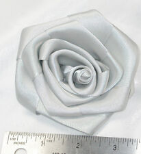 """5 x Polyester Satin Ribbon Rose 3 1/2"""" across - Stunning and in Stock USA Seller"""