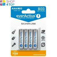 4 EVERACTIVE SILVER LINE AAA LR03 RECHARGEABLE BATTERIES BLISTER NIMH 1.2V NEW