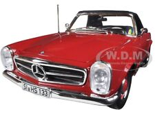 1969 MERCEDES 280 SL RED 1/18 DIECAST CAR MODEL BY NOREV 183520