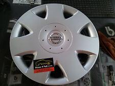 "X1 Coppa Coppe Ruota Logo Nissan Almera Originale 15"" 40315BN700 Genuine Oem"