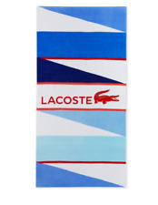 NWT Lacoste. Beach Towel Cotton Logo Print Wind Blue. 36 X 72. Blue. MSRP $42.00