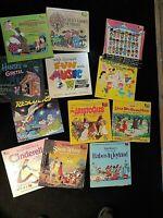 Lot of 12 Disney Vinyl records Kids and Children Snow White cinderella Sm World