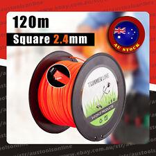 Square Trimmer Line 2.4MM 120m Whipper Snipper Cord Brush Cutter Bump Feeder