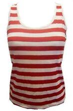 Rouge & blanc rayure FILLES / Ladies Vest Top costume déguisement