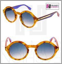 34c2aebdee84 FENDI COLOR BLOCK FF0153S Light Havana Lilac Round Sunglasses 0153 Women