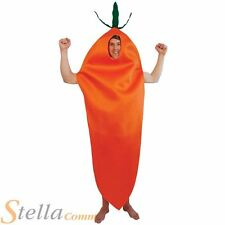 Adult Carrot Costume Mens Womens Food Drink Unisex Fancy Dress Outfit