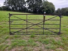 More details for antique wrought iron gate*black smith/estate made*riveted*strap work**
