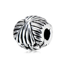 5Pcs Silver Plated Stopper Beads Charms for Chain Bracelet Jewelry Making Crafts
