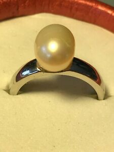 GENUINE PEARL RING - STERLING SILVER - BRAND NEW