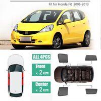 4Pcs Windows Sunshade UV Ray Protector Mesh Block Privacy Visor For Honda Fit