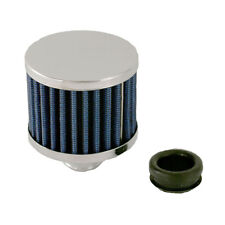 "Push In blue Breather 42856 For Valve covers With 1-1/4"" filler Hole Chrome Base"