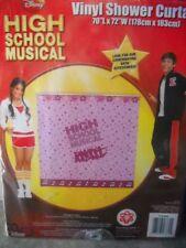 2 Disney High School Musical Vinyl Shower Curtain Pink Stars Notes 70 X 72 New