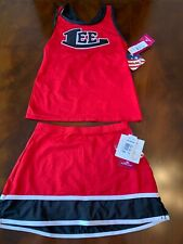 "Motionwear red and black cheer uniform ""lee"" new with tags"