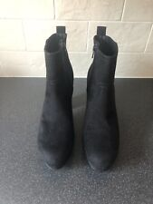 BNWT Ladies Black Faux Suede Boots By H & M (Size 6/39)