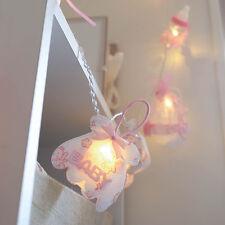 1.5M INDOOR BATTERY BABY GIRL PINK BOTTLE NURSERY 10 LED FAIRY STRING LIGHTS
