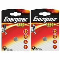 2 x Energizer 1220 CR1220 3V Lithium Coin Cell Battery DL1220 KCR1220, BR1220