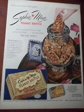 1953 VINTAGE PRINT AD SOPHIE MAE PEANUT BRITTLE 10X13 OLD SOUTH RECIPE