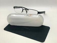 NEW NIKE 8170 002 BLACK OPTICAL HALF RIMLESS Eyeglasses 52-18-140MM /CASE