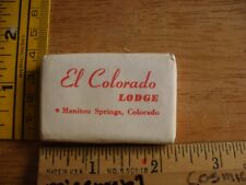 El Colorado lodge Manitou Springs VINTAGE soap in original packaging