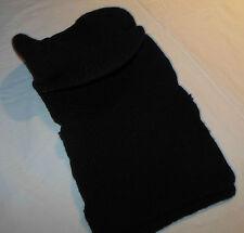 Vintage 90's Snowmobile Winter Knit Mask Hat + Sun Visor Bill Black Open Face