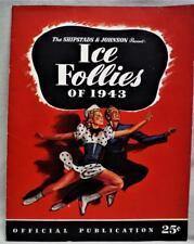 Ice Follies Of 1943 Official Program Publication Entertainment Brochure Vintage