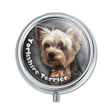 Yorkshire Terrier Yorkie Dog Pet Pill Case Trinket Gift Box