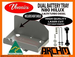 DUAL BATTERY TRAY SYSTEM FOR TOYOTA N80 HILUX 2.8TD 7/2015-ON VONNIES KIT