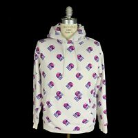 Taco Bell x Forever 21 Hoodie Sweatshirt Mens Size Small All Over Logo Print