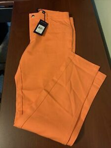 Polo Golf Ralph Lauren papaya orange Ladies size 8 cotton stretch Pants NEW NWT