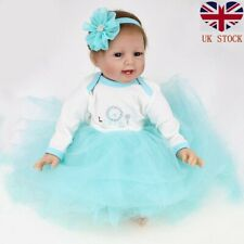 Real Lifelike Newborn Reborn Baby Doll Silicone Vinyl 22in Baby Girl Dolls Gifts