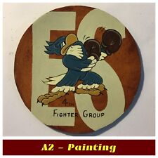 WW2 4th Fighter Group Hand Painted Leather Patch For A2 Jacket