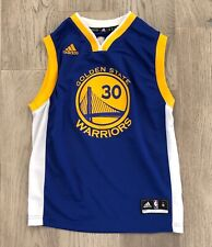 Boys Youth M Golden State Warriors Stephen Curry Adidas Jersey Gently Used 374