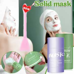 Green Tea Purifying Clay Stick Mask Anti-Acne Oil Control Deep Cleansing Beauty