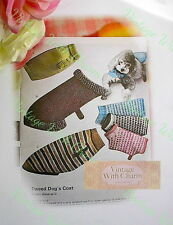 Vintage Dog Coat Knitting Pattern 4 Styles & Various Sizes For Cozy Canines.