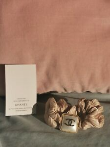 CHANEL Haargummi Hair tie Accessoire Glam Nude Beige PEARL CC New