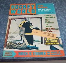 Hockey World Magazine November 1971 Gerry Cheevers Boston Bruins