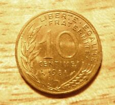 France French Francais 10 CENTIMES COIN 1984