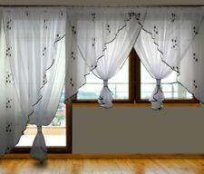 Schöne Fenster- und Balkongardine aus Voile NEU Gardine GD21-A Set Vorhänge
