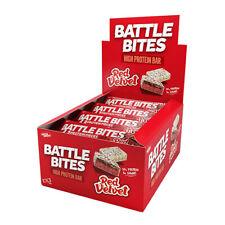 Morsi di battaglia barrette proteiche Confezione da 12 a basso contenuto di carboidrati & ZUCCHERO morbida al forno Torta Red Velvet