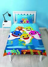 Pinkfong Baby Shark Single Duvet Cover Reversible Bedding Set Daddy Mummy Family