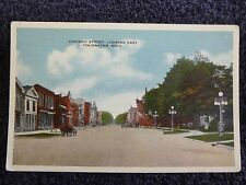 Early 1900's Chicago Street, Looking East in Coldwater, Mi Michigan PC