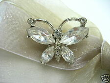 18KGP Butterfly Swarovski Element Austrian Crystal Rhinestone Brooch Pin