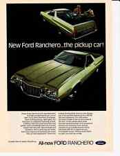 1972 FORD RANCHERO 500, GT OR SQUIRE / 429 V8  ~  NICE ORIGINAL PRINT AD