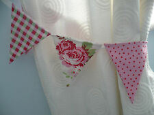 CATH KIDSTON ROSALI BUNTING CURTAIN TIE-BACKS ~ Rose, Pink/Red Spot & Gingham